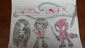 Birthday Greeting from Jane, Jeff, Slendy, and guest, Deadpool! - creepypasta fan art