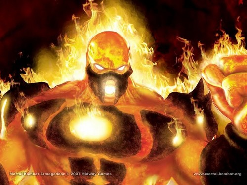 Mortal Kombat wallpaper probably containing a fire and a fire titled Blaze: Fiery deity