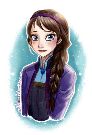 Brunette Elsa (if she hasn't got her ice powers)