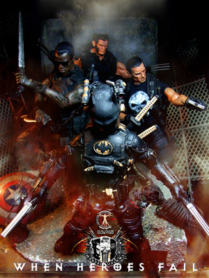 Calvin's Custom one sixth Marvel Outlaws feat. Teen BAT figures