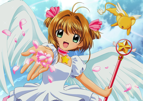 Sakura Cardcaptors wallpaper probably with animê called Cardcaptor Sakura