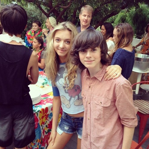 Chandler Riggs Hintergrund titled Chandler and Hana at Brooke's birthday party a few days Vor <3