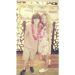 Chandler and Hana at Brooke's birthday party a few days Vor