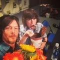 Chandler and Norman at Comic Con a few days ago - chandler-riggs photo