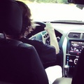 Chandler driving  - chandler-riggs photo