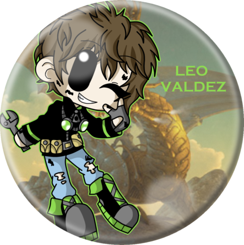 Helden des Olymp Hintergrund titled Chibi Leo.