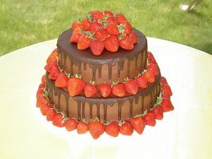 chocolat fraise Cake