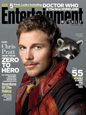 Chris Pratt with baby raccoon!!