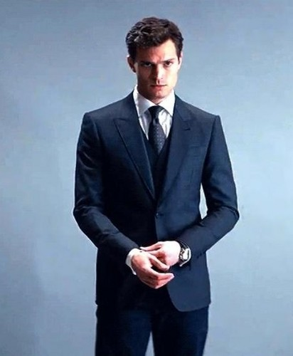 Fifty Shades of Grey wallpaper containing a business suit, a suit, and a single breasted suit entitled Christian Grey