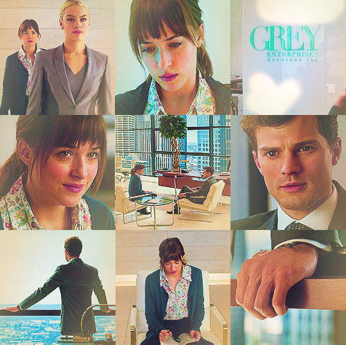 Fifty Shades of Grey wallpaper probably with a sign entitled Christian and Anastasia