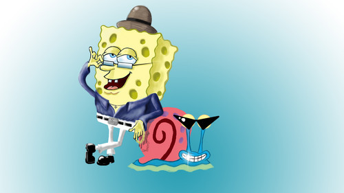 Spongebob Squarepants achtergrond called CoolBob and Gary