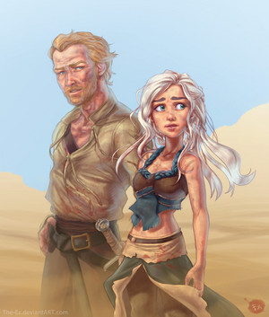 Daenerys and Jorah Mormont