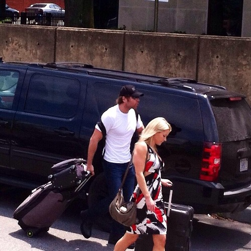 The Shield (WWE) wallpaper probably with an automobile titled Dean and Renee arriving at Raw in Richmond, Virginia