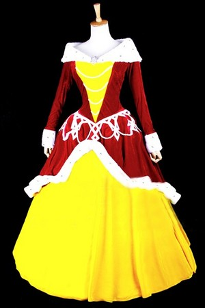 disney Beauty and the Beast Belle cosplay costume