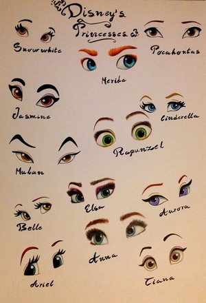 Disney Princess Fan Art - DP Eyes