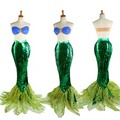迪士尼 The Little Mermaid Ariel cosplay costume