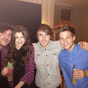 Eleanor and Louis with Friends from the New Year's Party 2012