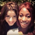 Eleanor with a friend from the New Year's Party 2012