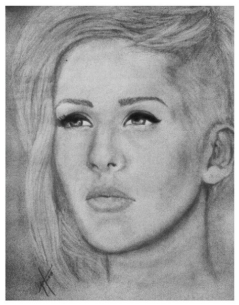 Ellie Drawing Ellie Goulding's Drawing