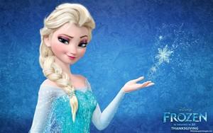 Elsa with sparkle