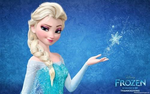 Elsa the Snow Queen hình nền titled Elsa with sparkle