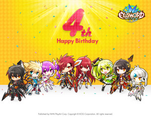 Elsword's 4th anniversary wallpaper