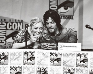 Emily Kinney and Norman Reedus
