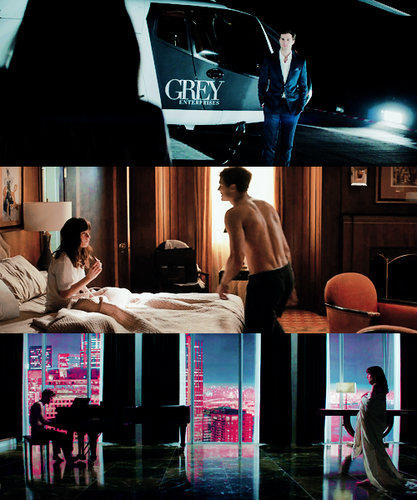 Fifty Shades-Trilogie Hintergrund possibly with a sign, a family room, and a living room entitled Fifty Shades ♥