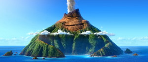 First Still from Pixar's Short 'Lava'