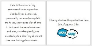 First and Last Lines | The Fault in Our Stars