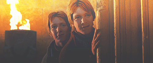 Fred and George Weasley wallpaper containing a fire and a fire entitled Fred and George Weasley