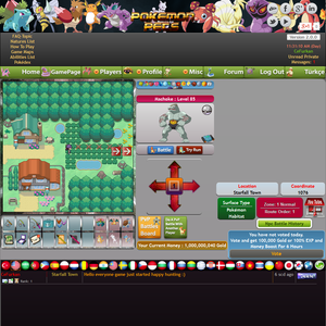 Free Online Pokemon MMO RPG Game Pokemon Pets Game Play Screenshot HD www.pokemonpets.com