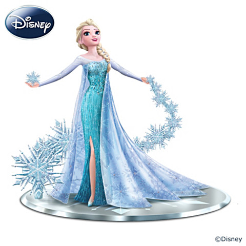 "Frozen karatasi la kupamba ukuta titled Frozen ""Let It Go"" Elsa The Snow Queen Figurine"