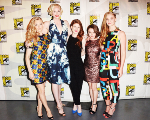 Natalie Dormer, Gwendoline Christie, Rose Leslie, Sophie Turner & Maisie Williams