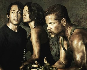 Glenn, Maggie, and Abraham