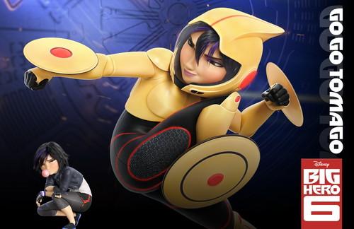 Big Hero 6 Hintergrund probably with Anime titled GoGo Tomago Hintergrund