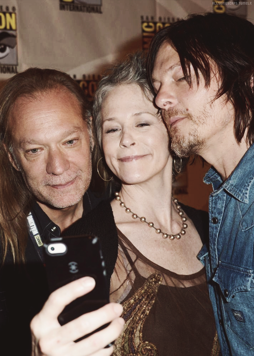 Melissa McBride and norman reedus
