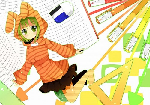 Gumi (Vocaloids) 壁纸 possibly containing 日本动漫 titled Gumi Megpoid