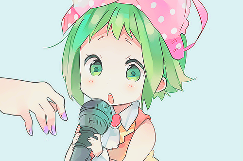 Gumi (Vocaloids) karatasi la kupamba ukuta possibly containing anime entitled Gumi Megpoid