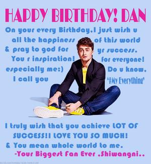 Happy Birthday to Dearest Dan <3