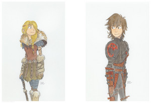 Hiccup and Astrid Concept Art