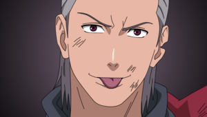 Hidan pulling faces.