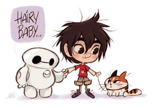 Hiro, Baymax, Hairy Baby