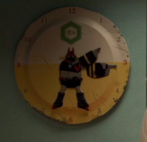 Hiro's bedroom clock
