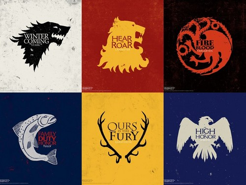 game of thrones wallpaper probably containing anime called Houses of Game of Thrones
