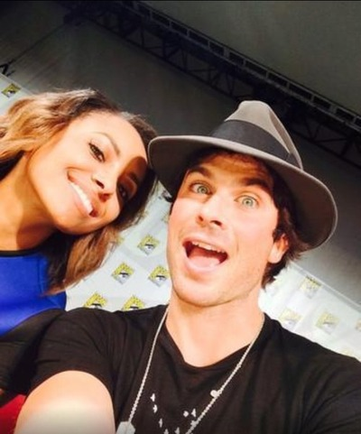 Damon & Bonnie wallpaper containing a fedora titled Ian Selfie with KitKat