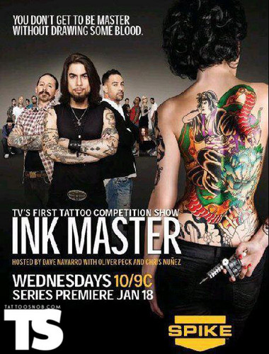 Ink Master wallpaper probably containing a jantar dress, a coquetel dress, and animê called Ink Master | Season 1 Poster