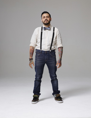 Ink Master wallpaper probably with bellbottom trousers, long trousers, and a pantleg, calça titled Ink Master | Season 5: Rivals | Cris Element