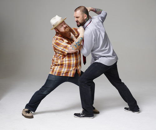 Ink Master wallpaper with a fedora and a boater called Ink Master | Season 5: Rivals | Jason vs Joshua