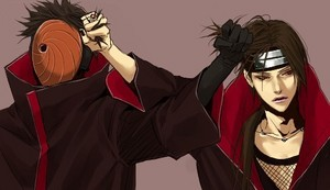 Itachi and Tobi Uchiha.The Tug of War.